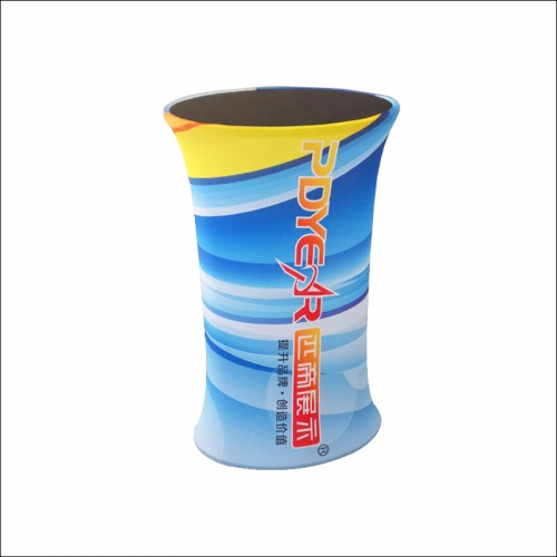 Oval Counter - tension fabric display